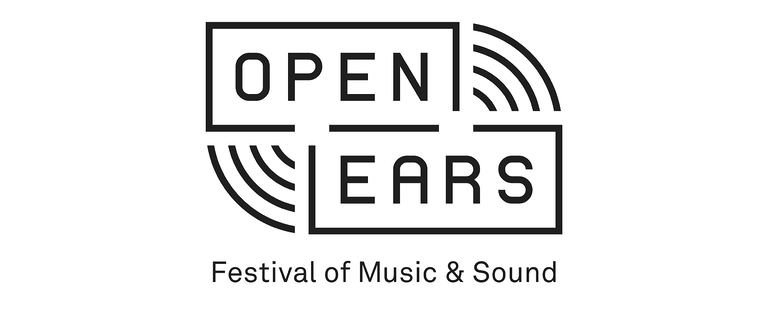 the Open Ears logo a Festival of Music & Sound