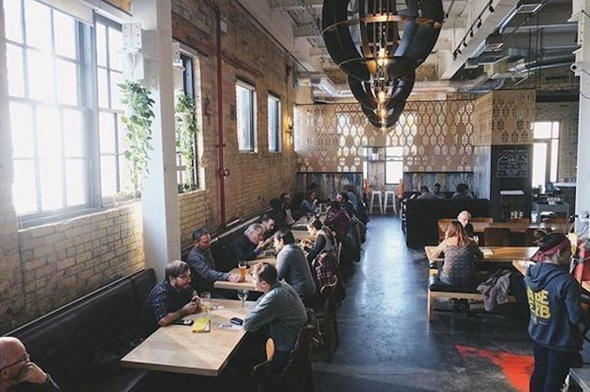 Dining room of the Abe Erb restauraunt